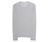 Longsleeve aus Baumwolle  // Sheer Slub Crew Heather Grey
