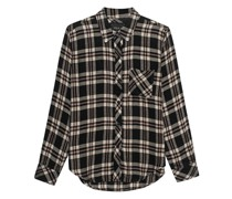 Kariertes Flannel-Hemd mit Brusttasche