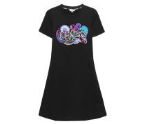 Baumwollkleid mit Print  // Label Embroidery Black