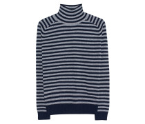 Gestreifter Rollkragenpullover  // Stripe Saphire Blue Grey
