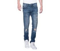 Destroyed Skinny-Jeans  // Rocco Destroyed Cobalt Blue