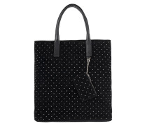 Velourleder-Shopper mit Nieten  // Broadway Shopper Black