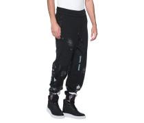 Baumwoll-Joggingpants mit Signature-Print  // Galaxy Black