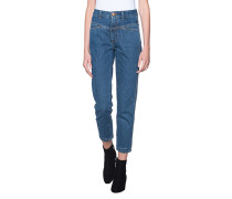 Cleane Straight-leg Jeans  // Pedal Pusher Blue