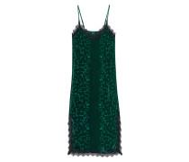 Samt-Trägerkleid mit Spitze  // Velvet Flowers Green