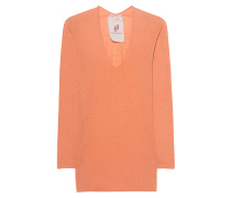 Kaschmir-Mix-Pullover  // Richmond Shirt Exposed Orange