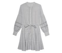 Leinen-Kleid mit Taillenband