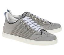 Wildleder-Sneaker mit Streifen-Details