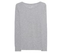 Meliertes Baumwoll-Longsleeve  // Basic Long Grey