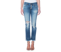 Gerade Baumwoll-Jeans  // Cyrus Pant Destroyed Pacific