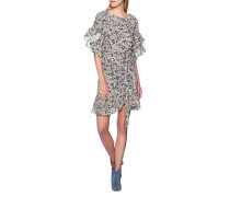 Mini-Kleid mit floralem Print  // Delicia Beige