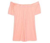 Schulterfreies T-shirt  // Off Shoulder Basic Apricot
