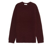 Grobstrick-Pullover aus Wolle