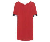 Jersey-Kleid  // Sweat Stripe Cuffs Red