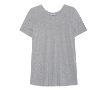 T-Shirt mit geripptem Rückeneinsatz  // Rib Back Heather Grey