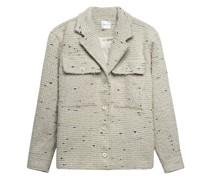 Oversize Bouclé-Jacke mit Brusttaschen