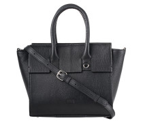 Umhängetasche aus strukturiertem Leder  // Albany Mini Shopper Black