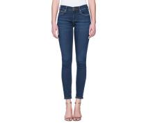 Skinny-Jeans mit Glitzer-Detail