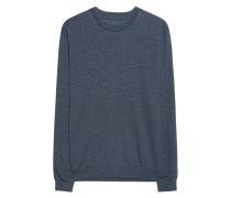Meliertes Baumwoll-Mix-Sweatshirt  // Sweat Basic Deep Blue