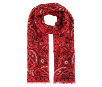 Tuch mit Paisley-Print  // Light Pashmina Pattern Red White