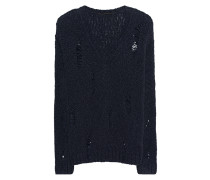 Alpaka-Wollpullover im Destroyed-Look  // V-Neck Destroyed Navy