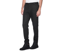 Woll-Mix-Hose  // Pinstripes Black