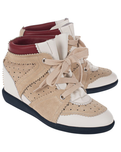 Günstig Kaufen Mit Paypal Isabel Marant Damen Leder-Sneakers mit Keilabsatz Rabatt Perfekt 9DA40DL