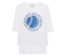 Mesh-T-Shirt mit Print