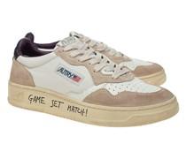 Leder-Sneaker mit Wordings