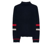 Rippstrick-Pullover mit Streifen  // Turtleneck Navy
