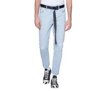 Straight-Fit Jeans mit Gürtel  // Denim Belt Light Blue