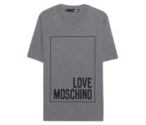 Baumwoll-T-Shirt  // Logo Print Grey