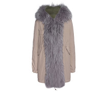 Parka mit Fell-Besatz  // Midi Quilt Grey Zarina