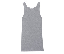 Schmales Jersey-Tanktop  // One And One Heather Grey
