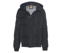 Schmale Daunenjacke  // Hooded Down Jet Black