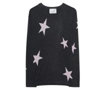 Feinstrick-Pullover aus Woll-Kaschmir-Mix  // Knit Stars Anthra