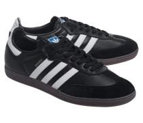 Flache Leder-Sneakers  // Samba Black