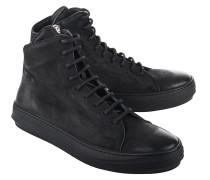 Mittelhohe Leder-Sneakers  // Ollie Mat Black