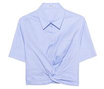 Geknotete Crop-T-Shirt Bluse  // Twist Front Crop Light Blue