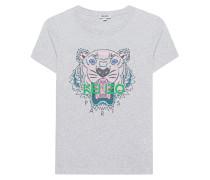 T-Shirt mit aufgedrucktem Tiger  // Tiger Grey