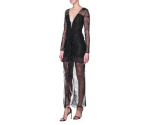 Spitzen-Kleid mit Pailletten-Details
