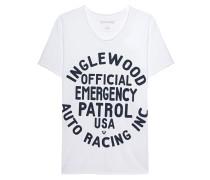 Baumwoll-T-Shirt mit Print  // Scoop Inglewood White