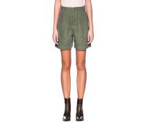 High Waist Shorts mit Bundfalten
