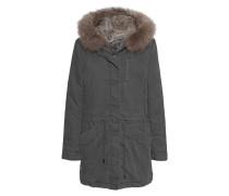 Parka mit abnehmbarem Fell-Besatz  // Basic Fur Grey