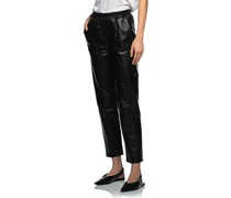 Leder-Hose mit elastischem Bund