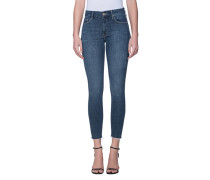 Skinny-Jeans mit offenen Saum