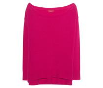 Kaschmir Pullover mit U-Boot-Ausschnitt  // Oversize Knit Pink