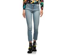 Skinny-Jeans mit geknöpften Hosenschlitz