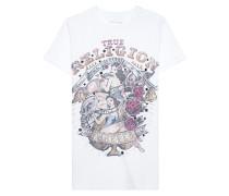 Baumwoll-T-Shirt mit Nieten-Details  // Pinup White