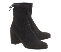 Veloursleder-Stiefeletten  // Shorty Anthracite Suede